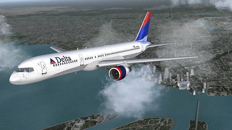 Delta Airlines B757 200 Miami
